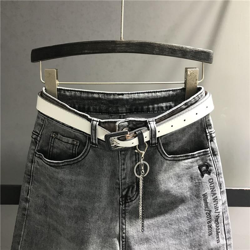 Elástico K482 Casual Mujeres Negro Asos Lavado Para Jeans Vaqueros Nueva Denim Alta Cintura De Llegada Pantalones Algodón Calidad Sueltos qpHTW4