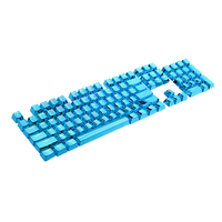ESLOTH 87 Keys 104 Full Set of Translucent Keycap Personality for Game LOL Mechanical Keyboards PBT Plating Metal Accessories