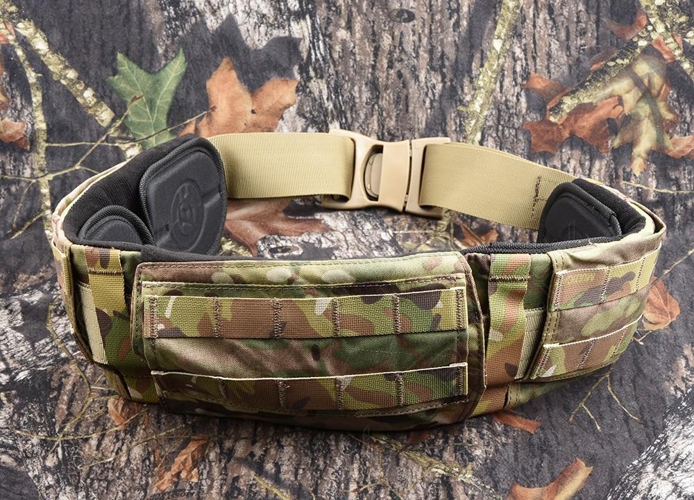 Molle multicam ceinture ceinture rembourrée airsoft bataille chasse tactique fédéral chasse molle ceinture M2015