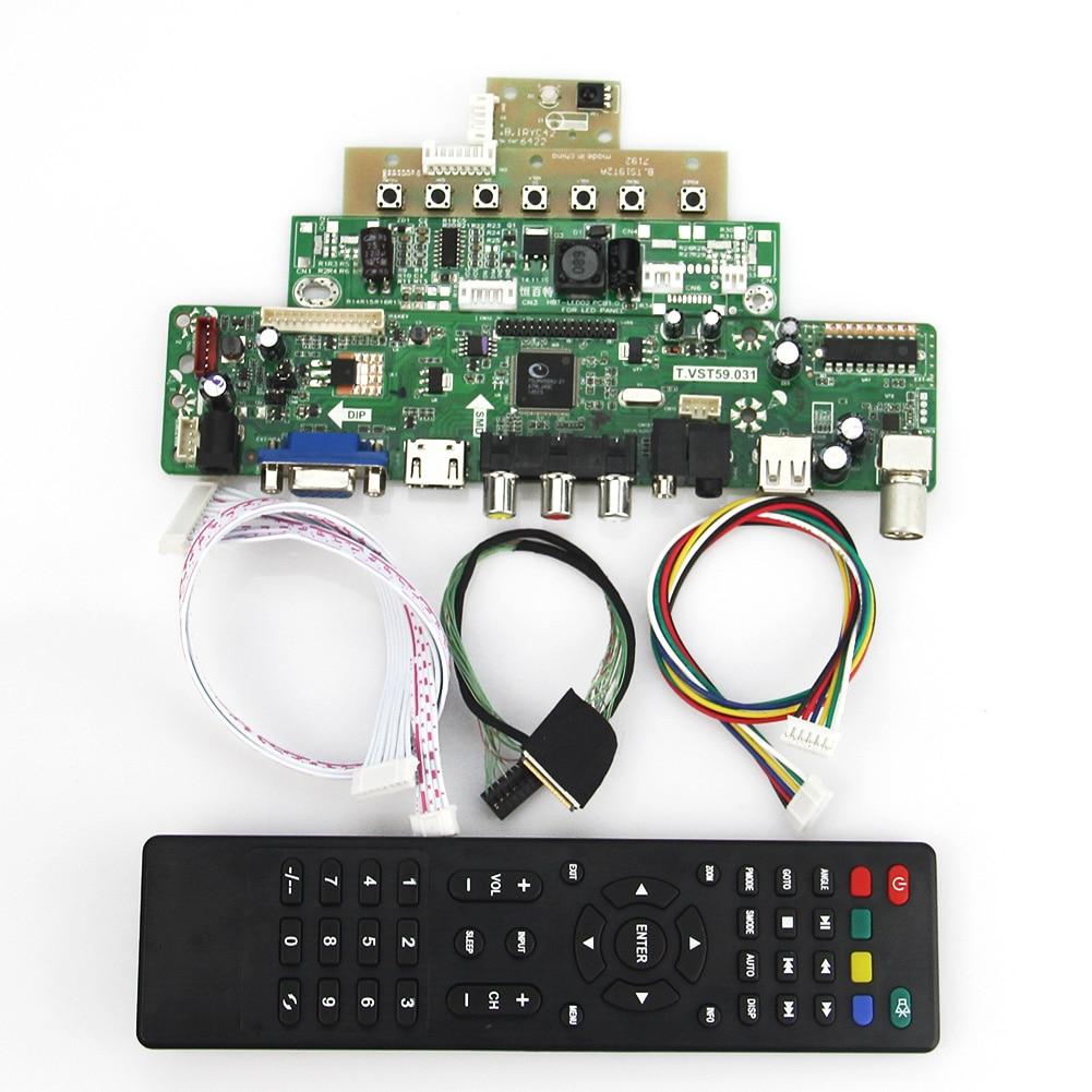 T.VST59.03 LCD/LED Controller Driver Board(TV+HDMI+VGA+CVBS+USB) For LP133WX3-TLA6 LTN133AT09 LVDS Reuse Laptop 1280x800