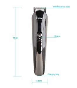 Image 4 - 100 240V kemei electric razor electric shaver beard shaver hair trimmer hair clipper men shaving machine nose hair cutting