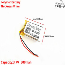 Хорошего качества 3,7 V, 500 мАч 802030 полимерный литий-ионный/литий-ионный аккумулятор для планшетного компьютера банка, gps, mp3, mp4