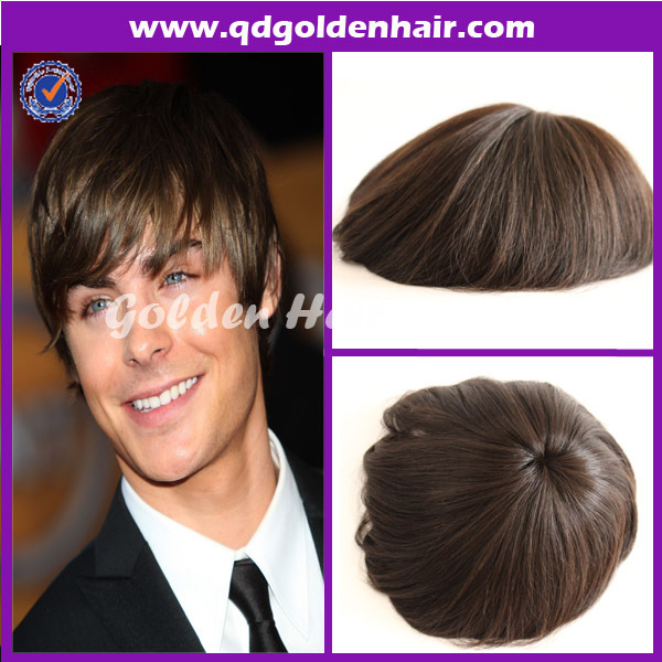 Free Shipping Stock Golden Hair Popular Full Lace Hair Piece Toupee For  Black Men a057baf75