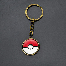 6 Colors Pokemon GO Keychain Student Pocket Monster Pokeball Key Chains Cartoon Jewelry Anime Key Rings For Child Birthday Gifts