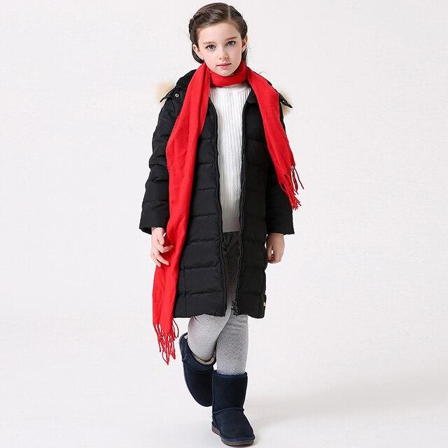 T100 Girls Winter Jacket Long Kids Warm Duck Down Jacket Long ...