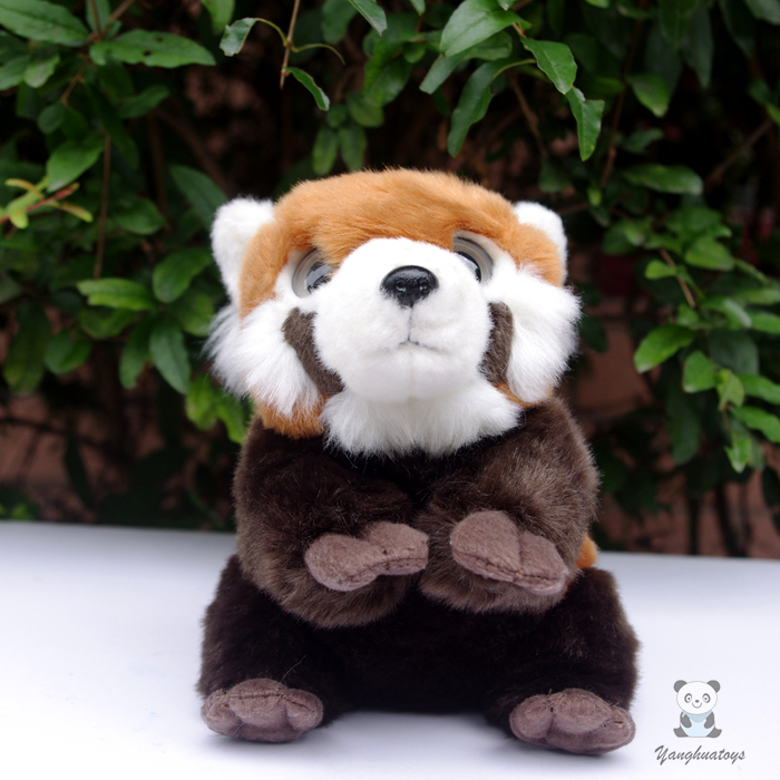 Cute Big Eyes Red Panda Doll Stuffed Toy Simulation Animal Plush Baby Toys Gift