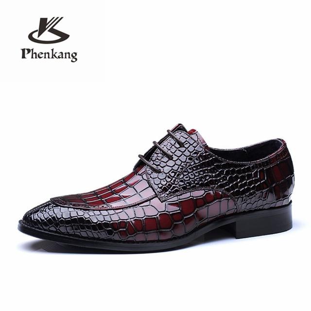 Mens formais sapatos de couro genuíno oxford sapatos para homens preto vermelho vestido sapatos sapatos de casamento sapatos de atacadores de couro brogues 2019 primavera