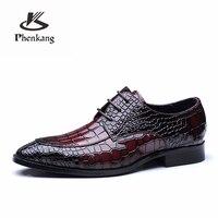 Promo Zapatos formales para hombre, zapatos oxford de cuero genuino para hombre, zapatos de vestir negros y rojos, zapatos de boda, cordones de cuero, brogues, primavera 2020