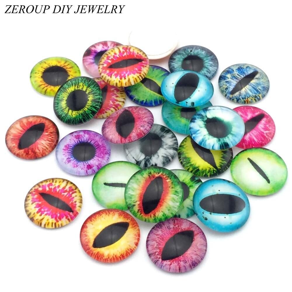 ZEROUP 10 шт./лот 20 мм 25 мм круглые картины стекло кабошон, комбинированные рисунки плоской задней ручной Фурнитура для бижутерии аксессуаров