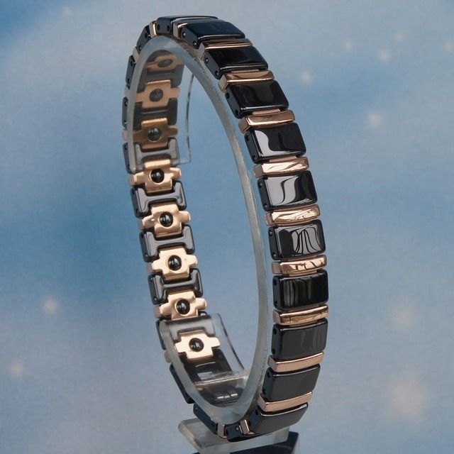 Special Offers black  with 2tone rose gold  plating   fashion design hi tech scratch proof ceramic bracelets 3 color available bangles