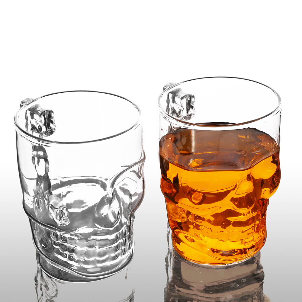 Dainty Glass Ounce Clear Glass Skull Face Drinking Mug Cup Glass Beer Juice Water Drinking Glass On Alibaba Group Clear Glass Skull Face Drinking Mug Cup