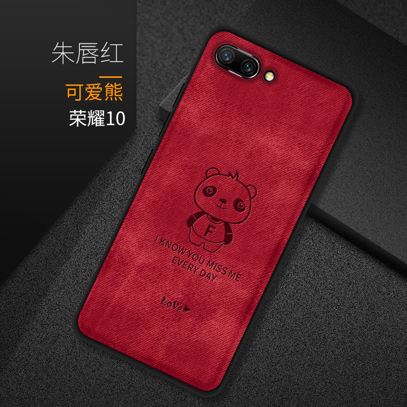 For Huawei Honor 8X Case Cover Silicone Edge Fabric Cover For Huawei