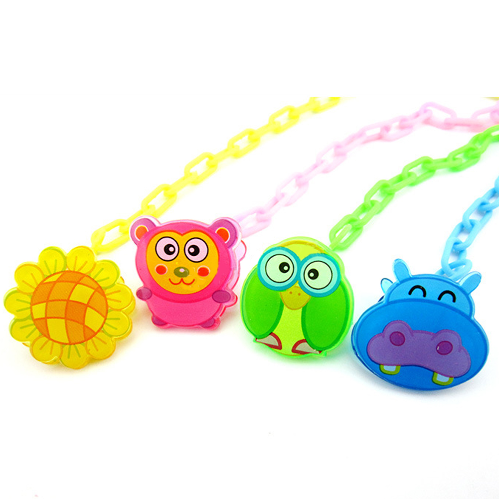 1 Pc Newest Baby Pacifier Chain Clip Animal Cartoon Baby Pacifier Anti