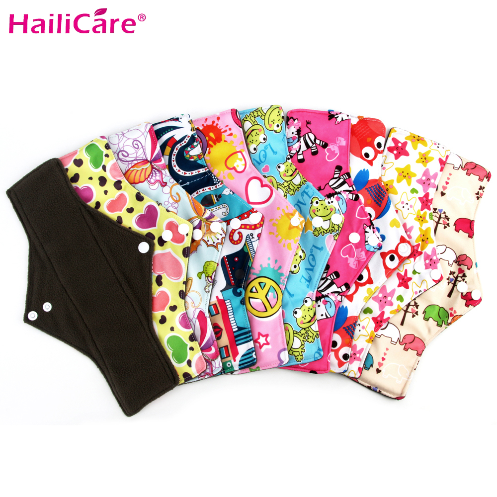 New No Leak Regular Bamboo Reusable Menstrual Cloth Sanitary Pads Washable Waterproof Napkin Panty Liners Women Feminine Hygiene