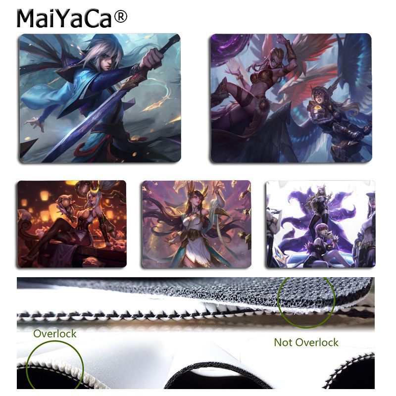 MaiYaCa Beautiful Anime League of legends Comfort small Mouse Mat Gaming Mouse pad Simple Design Speed Game Mouse Pads image