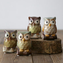 Idyllic Owl Ceramic Toothpick Jar Creative Grocery Storage Tank Multi-Functional Crafts Home Living Room Kitchen Table Top Decor(China)