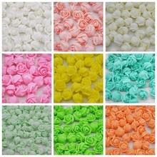 100pcs Mini 2cm Foam Rose Artificial Flower Wedding Bride Bouquet Party Decoration Birthday Gift Scrapbook DIY Craft Supplies
