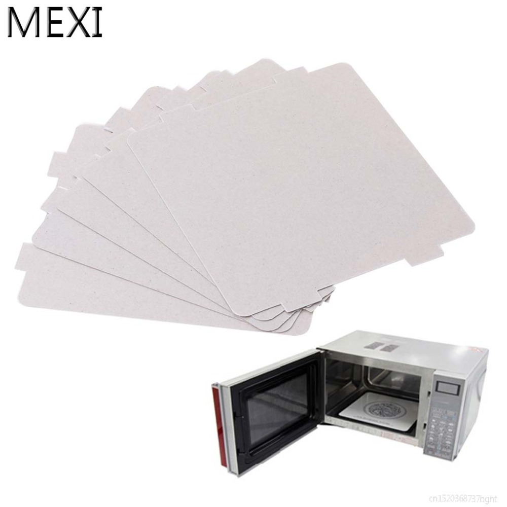 MEXI 5Pcs Mica Plates Sheets Microwave Oven Repairing Part 108x99mm Kitchen For Midea Series цена