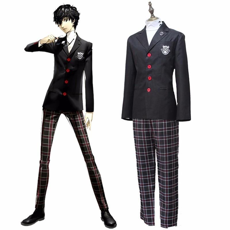 Game Persona 5 Akira Kurusu Cosplay Costume P5 Ren Amamiya Full Set School Uniform Mens Suits