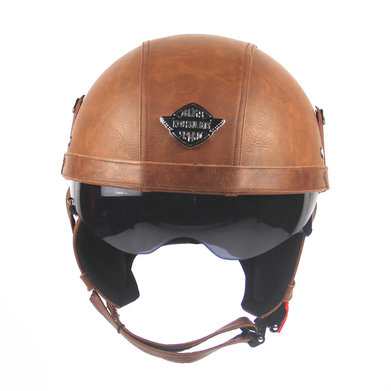Compare Prices on Brown Leather Motorcycle Helmet- Online ...