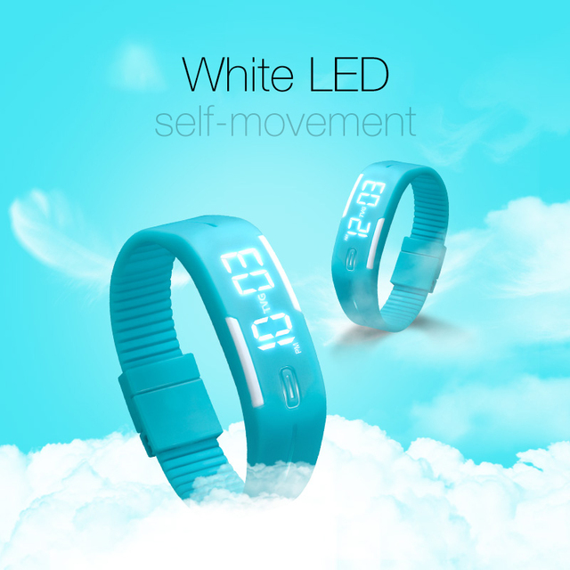 2016 Hot TVG Brand Soft Silicone Bracelet Strap Cartoon-watch LED Display Children Digital Cartoon Watch for kids Gift