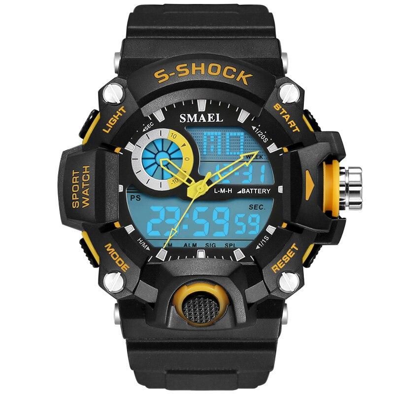 2016 Newest G Style Quartz LED Digital Watch Men Dual Time Man Sports Watch Mens Luxury