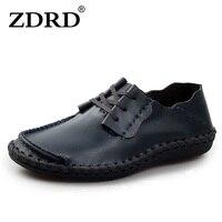 2015 High Quality Men S Brand Designer Soft Genuine Leather Oxford Flats Men S Comfortable Flat