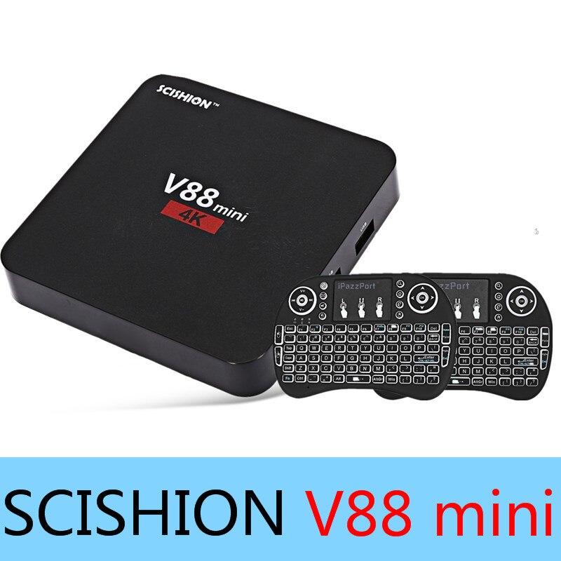 Original SCISHION V88 mini TV Box RK3229 4 Core Android 6 0 1GB 8GB Set top