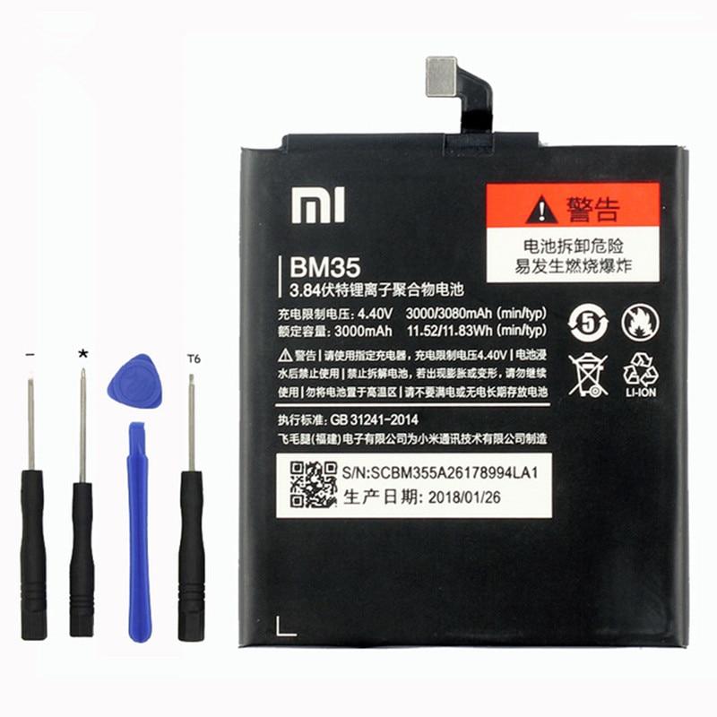 Mi 4C BATTERIA Del Telefono Mobile BM35 BATTERIE Al litio 3080 mah del caricatore di ricambio Per originale Xiao Mi mi 4C mi 4C bateria + Strumenti Gratuiti