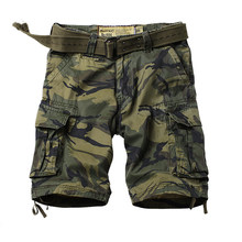 Camping Camouflage Hiking Shorts Men Many Pockets Army Cargo Summer Casual Loose Cotton Camo Tactical Military Shorts(China)