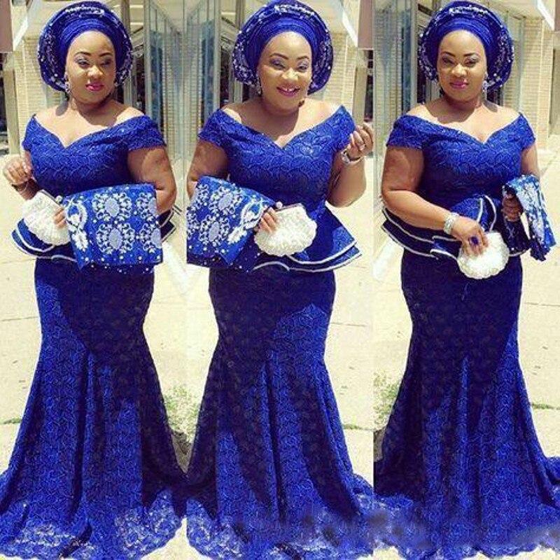 2019 халат de Soiree африканская Русалка Пром синее платье Кружева баски гофрированные поезд длинное вечернее платье vestidos abiye