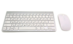 Image 2 - لوحة مفاتيح روسية رقيقة جدا لاسلكية لوحة مفاتيح وماوس 2.4G ماوس لاسلكي لابل لوحة المفاتيح نمط ماك وين XP/7/8/10 Tv Box