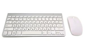 Image 2 - Teclado ruso Ultra Delgado teclado inalámbrico ratón Combo 2,4G ratón inalámbrico para Apple teclado estilo Mac Win XP/7/8/10 Tv Box