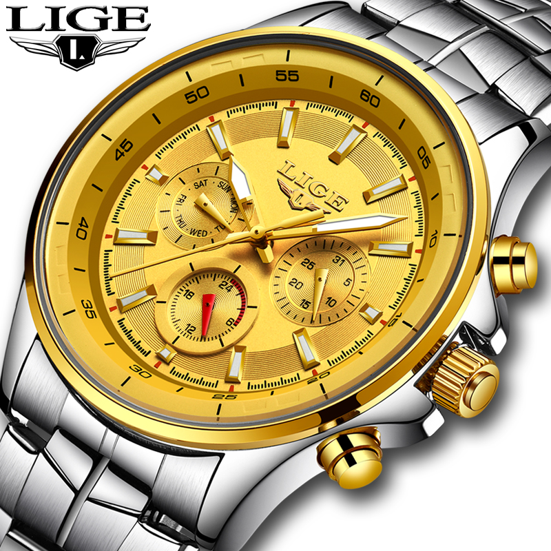 Relojes <font><b>LIGE</b></font> Mens Watches Top Brand Luxury Quartz Watch Men Waterproof Sport Watch Fashion Military Clock Male Relogio Masculino image