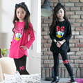 Baby Girls Clothing Sets Baby Girls Kids Clothes Children Clothing Full Sleeve T Shirt + Legging Pants Cartoon Children 2pcs Set