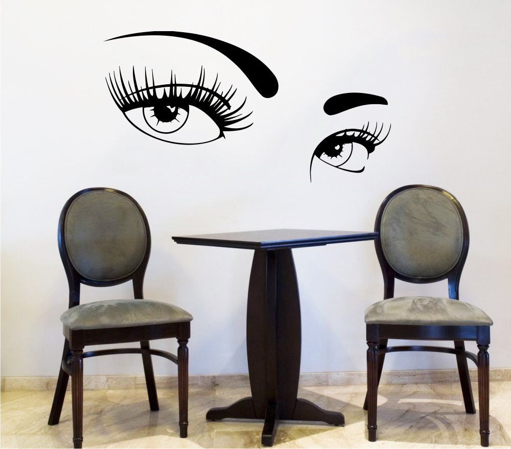 Eyes wall stickers wow modern beauty salon valentine wall decoration - Sexy Women Eyes Wall Sticker Bedroom Living Room Home Decor Beauty Salon Barbershop Wall