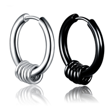 1Pc Punk Men Clip Earrings Hiphop Hipster Fashion Stud Male Knot Silver Black Ear Studs Party Jewelry