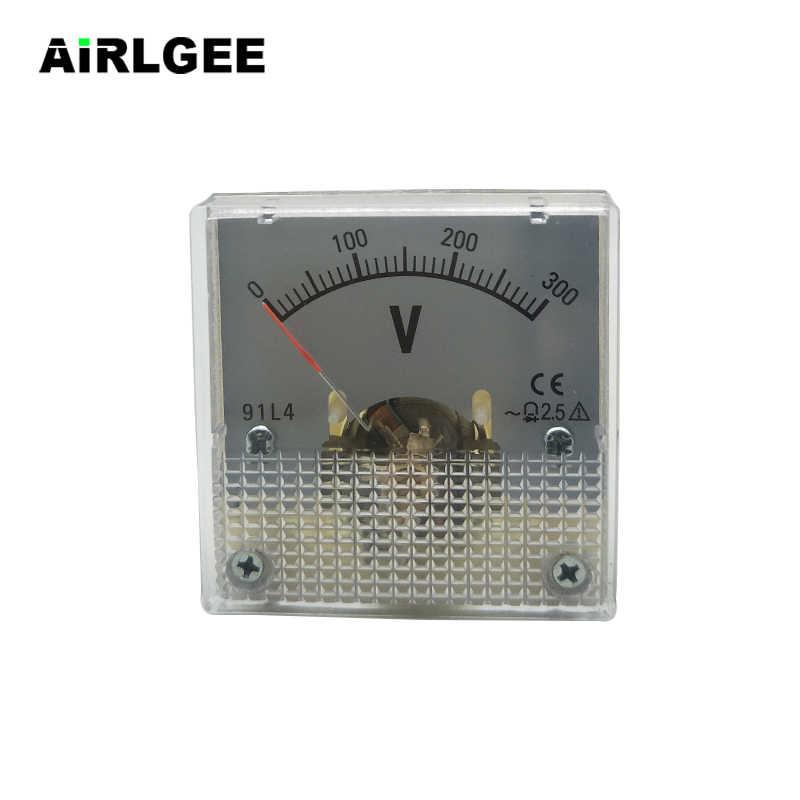 AC 0-300V Fine Tuning Square Plastic Case Analog Voltage Meter Voltmeter