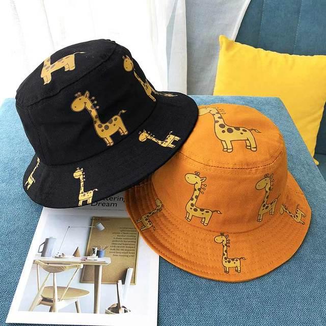 Cartoon Giraffe Printed Sun Hat for Kids 4