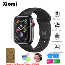 4Pcs/Lot(2Films+2Wipes)For iWatch Apple Watch Series 4/1/2/3 Protective Film 40/44mm 38/42mm Screen Protector Cover