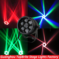 2016 Free Shipping Hot Sales 1Pcs/Lot Bee Eyes Beam Par Light 6*10W RGBW 4IN1 LED Par Light For Stage Dj Disco Laser Lights