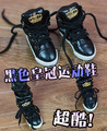 BJD  doll shoes Doll accessories SHOES black sport  shoes  1/3 SD17 UNCLE