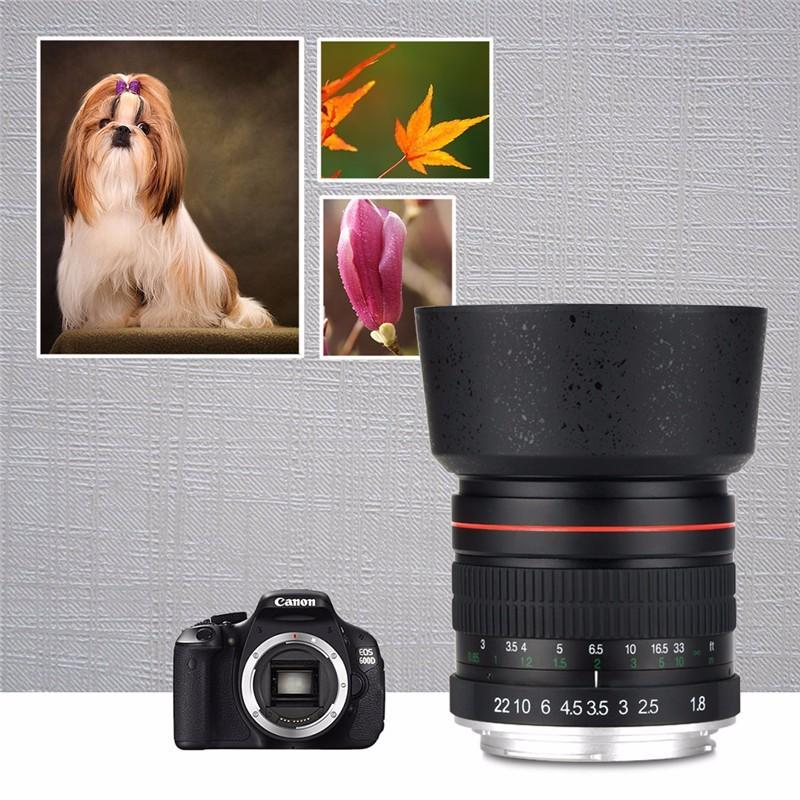 Lightdow 85mm F1.8-F22 Manual Focus Portrait Lens Camera Lens for Canon EOS 550D 600D 700D 5D 6D 7D 60D DSLR Cameras 10