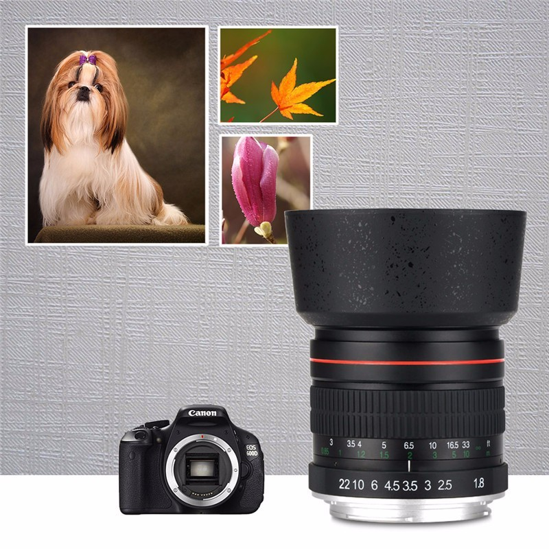 Lightdow 85mm F1.8-F22 Manual Focus Portrait Lens Camera Lens for Canon EOS 550D 600D 700D 5D 6D 7D 60D DSLR Cameras 10