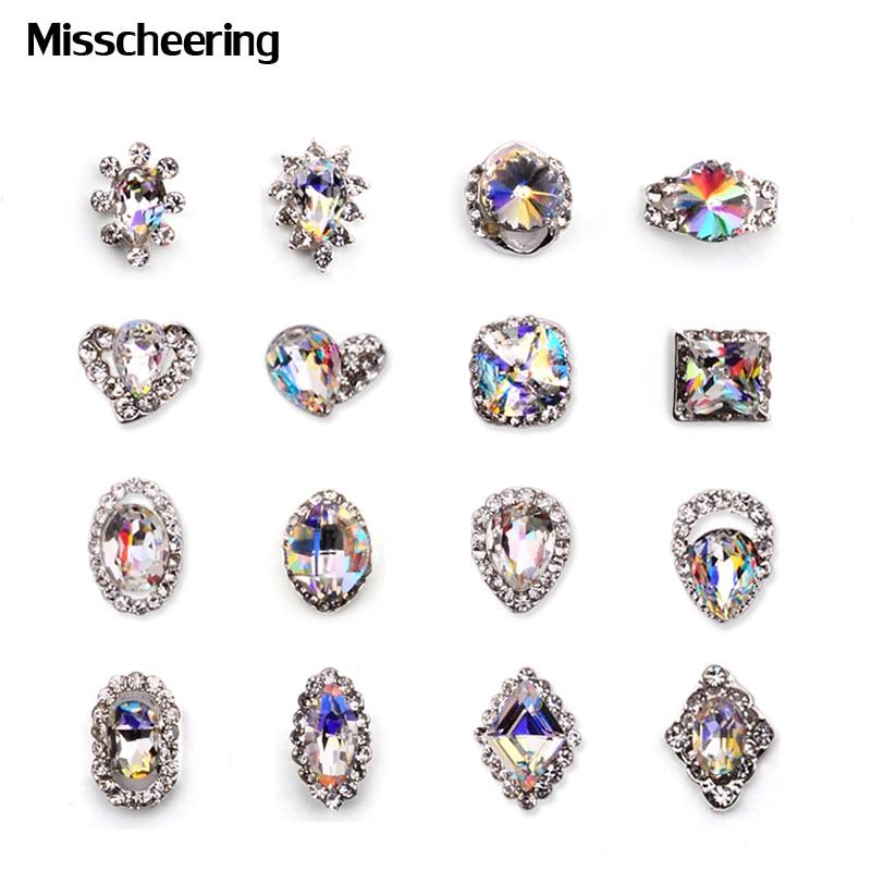 5pcs नई 2016 लक्जरी हीरा स्पष्ट - नाखून सजाने की कला