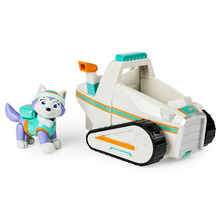 Without box Genuine Paw Patrol Basic Vehicle with Pup -Chases Cruiser Everest ryder Puppy Patrulla Canina Childrens toy