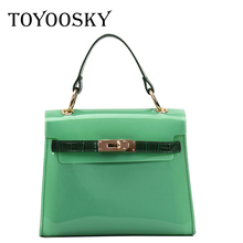 TOYOOSKY 2019 Design Luxury Brand Women Transparent Bag Clear PVC Jelly Small Tote Messenger Bags Female Crossbody Shoulder