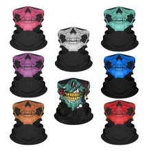 Outdoor Sports Scarf Mask Motorcycle Scarf Neck Warmer Skull Face Mask Ski Balaclava Headband Mask Scary Halloween Face Shield bjmoto cool skeleton skull motorcycle ski headband sport outdoor neck face mask mtb racing cycling windproof scarf balaclava