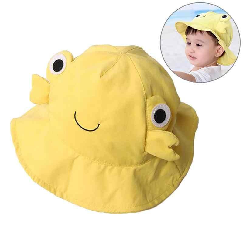 Dla dzieci lato plaża kapelusz kraba czapka osłona przeciwsłoneczna kapelusz słońce słodkie kapelusz wędkarski (żółty)