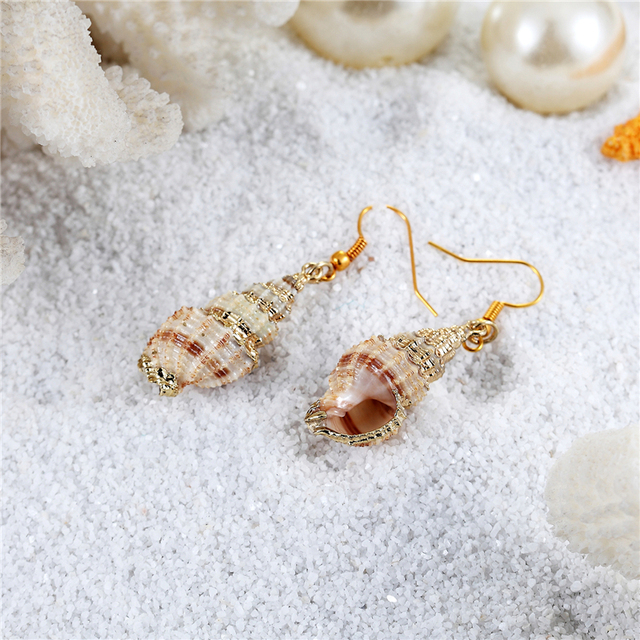 Женские серьги раковины janeyacy модные из натурального для